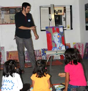 Local artists work hands on with the kids