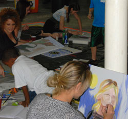 Volunteer Artists at The Creative Art Program Workshops